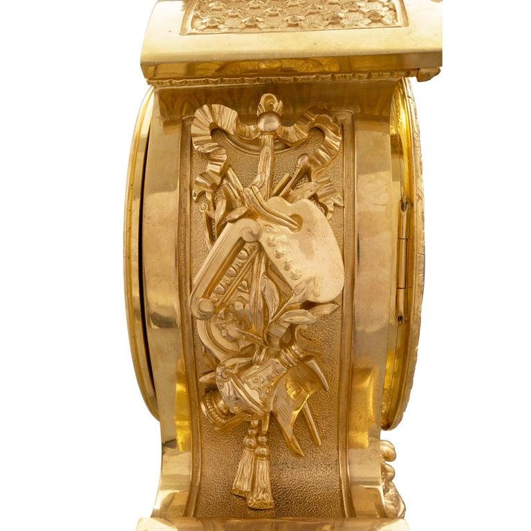 French 19th Century Louis XIV Style Ormolu Three-Piece Garniture Set For Sale 9