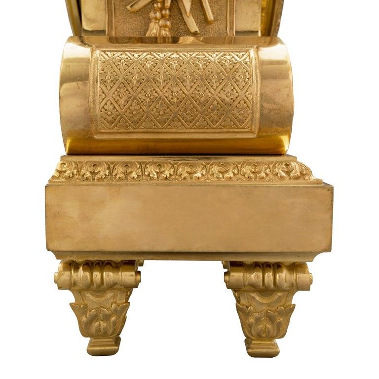 French 19th Century Louis XIV Style Ormolu Three-Piece Garniture Set For Sale 10