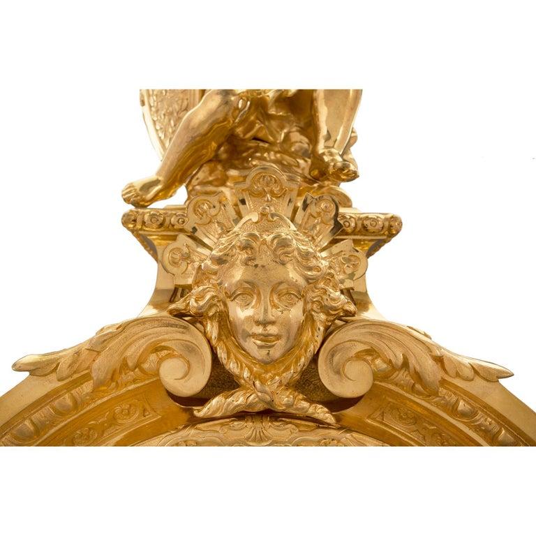 French 19th Century Louis XIV Style Ormolu Three-Piece Garniture Set For Sale 4