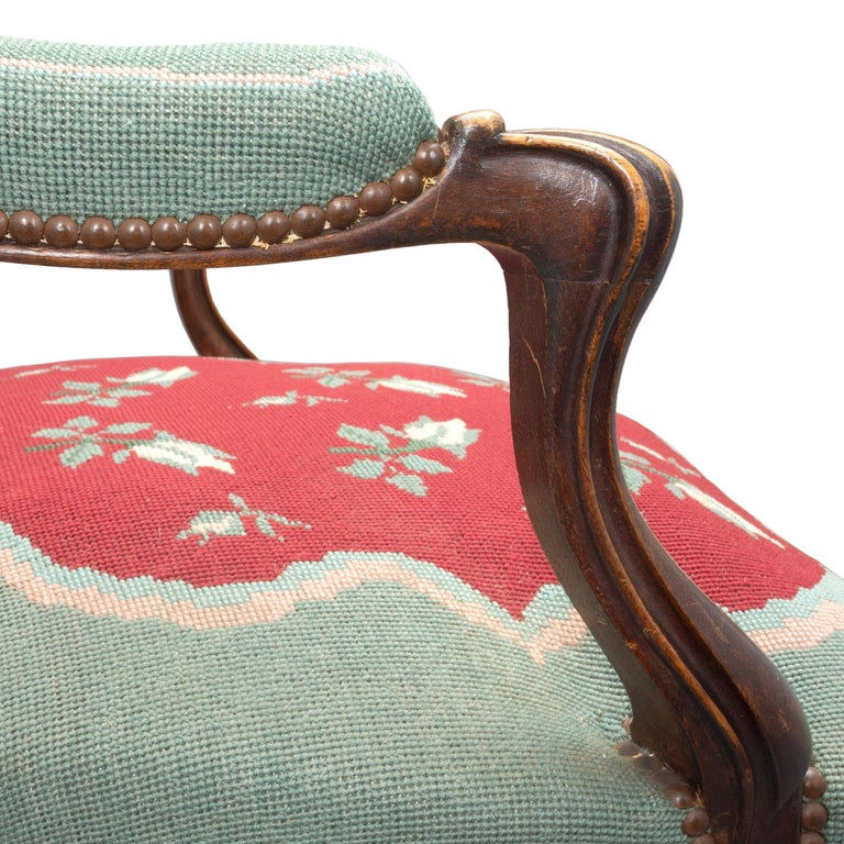 French 19th Century Louis XV Style Carved Armchairs For Sale 2