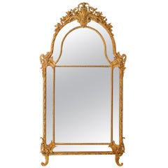 French 19th Century Louis XV Style Double Framed Giltwood Mirror
