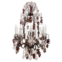 French 19th Century Louis XV Style Eight Light Chandelier