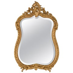 French 19th Century Louis XV St. Giltwood Mirror