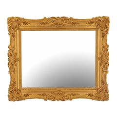 French 19th Century Louis XV St. Giltwood Mirror
