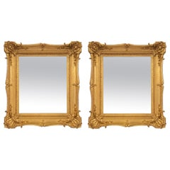 French 19th Century Louis XV St. Giltwood Mirrors