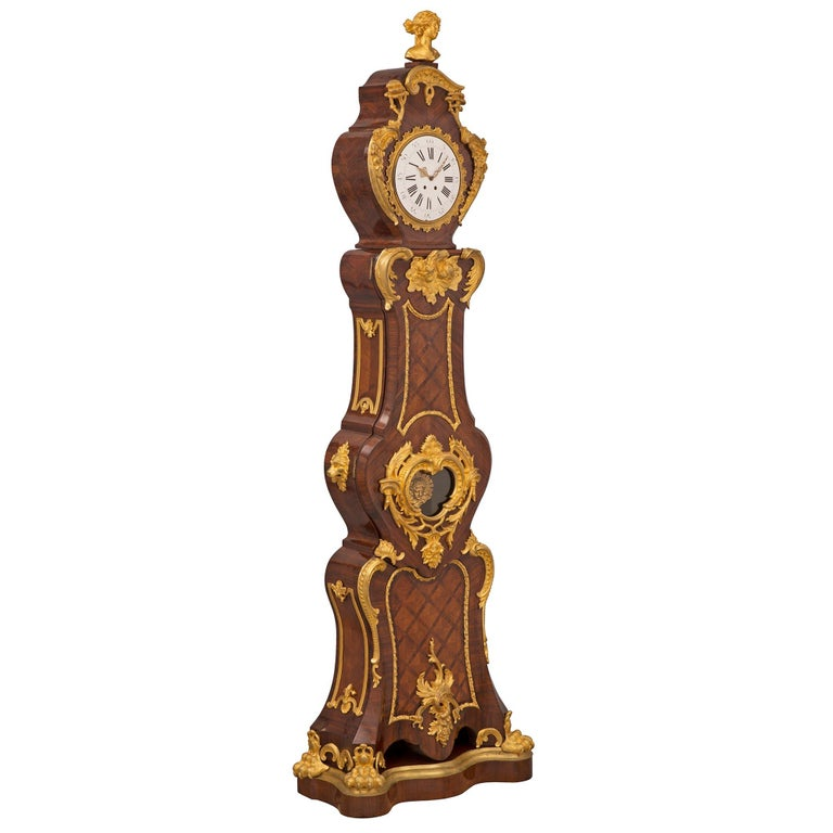 Ormolu French 19th Century Louis XV St. Grandfather Clock For Sale