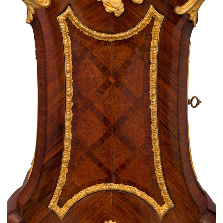 French 19th Century Louis XV St. Grandfather Clock For Sale 5