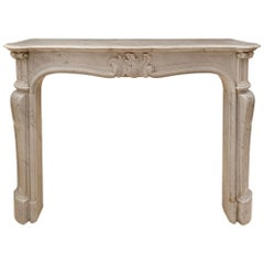French 19th Century Louis XV St. Gris St. Anne Marble Fireplace Mantel