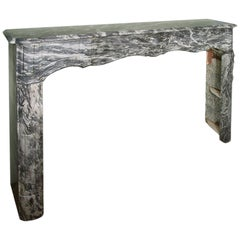French 19th Century Louis XV Style Gris St. Anne Marble Mantel