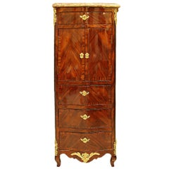 French 19th Century Louis XV St. Kingwood Inlaid Secretary