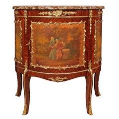 French 19th Century Louis XV St. Mahogany and Ormolu Cabinet
