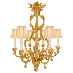 French 19th Century Louis XV Style Ormolu Chandelier