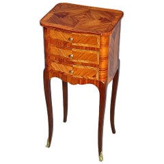 French 19th Century Louis XV Style Three-Drawer Side Table