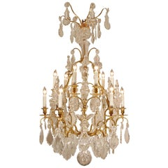 French 19th Century Louis XV Style 12-Light Baccarat Crystal Chandelier