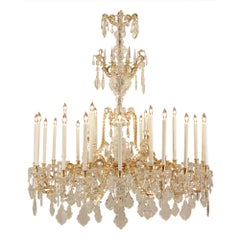 French 19th Century Louis XV Style Baccarat Crystal Chandelier