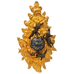 French 19th Century Louis XV Style Belle Époque Period Clock
