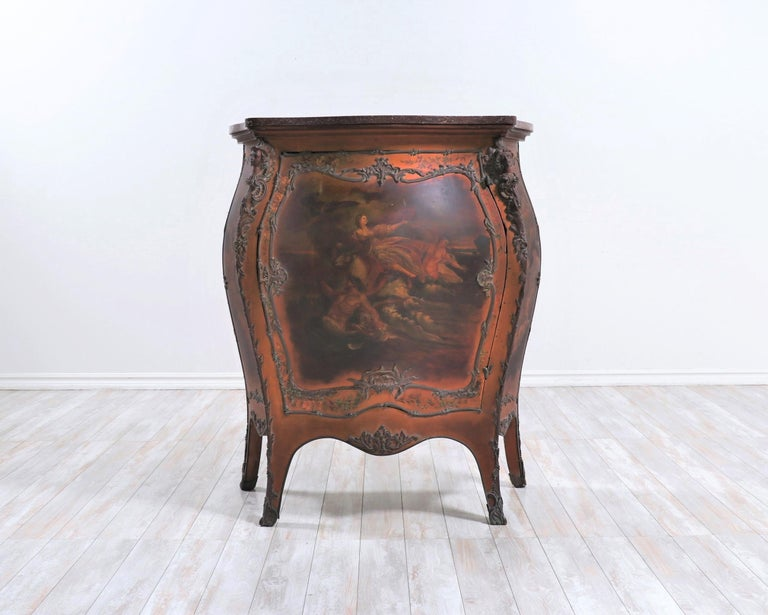 Beautiful, late 19th century French Bombay chest in the Louis XV style.