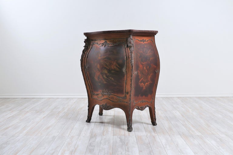 Bronze French 19th Century Louis XV-Style Bombay Chest For Sale