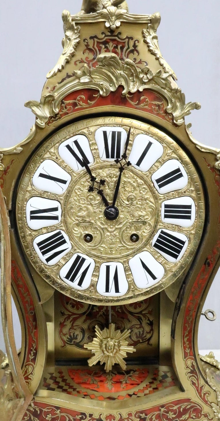 French 19th Century Louis XV Style Boulle Bracket Clock In Good Condition For Sale In Macclesfield, GB