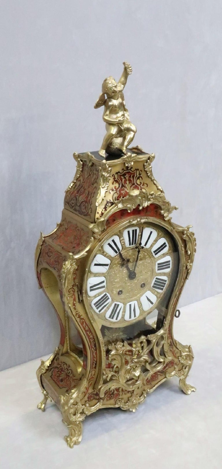 French 19th Century Louis XV Style Boulle Bracket Clock For Sale 2