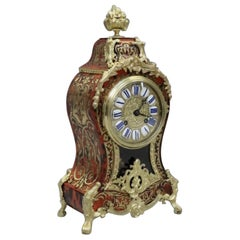 French 19th Century Louis XV Style Boulle Mantel Clock by Japy Freres