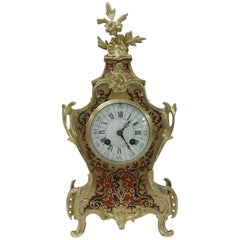 French 19th Century Louis XV Style Boulle Mantel Clock by Vincenti