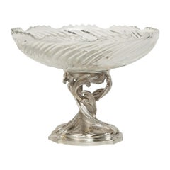 French 19th Century Louis XV Style Bronze and Baccarat Crystal Centerpiece