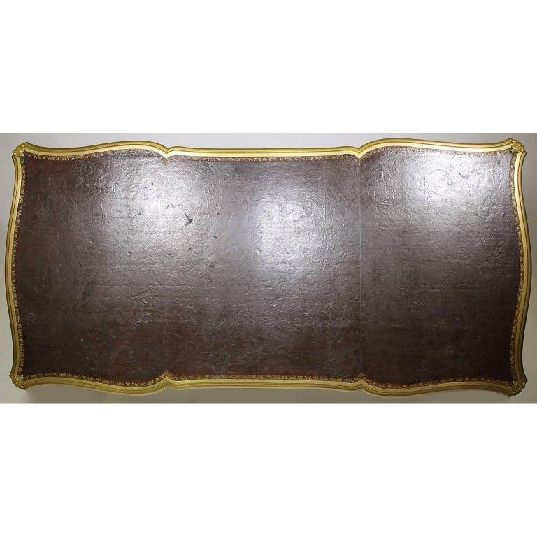 French 19th Century Louis XV Style Kingwood Gilt-Bronze Mounted Bureau Plat Desk For Sale 7