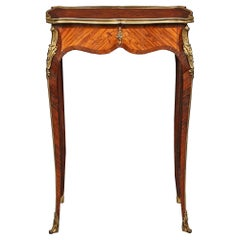 French 19th Century Louis XV Style Kingwood Side Table