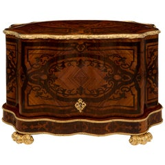 French 19th Century Louis XV Style Kingwood, Tulipwood and Ormolu Cave a Liqueur