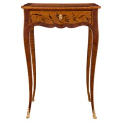 French 19th Century Louis XV Style Kingwood, Tulipwood and Ormolu Side Table
