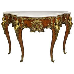 French 19th Century Louis XV Style Ormolu-Mounted Console After Charles Cressent
