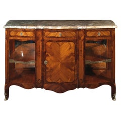 French 19th Century Louis XV Style Tulipwood and Kingwood Buffet