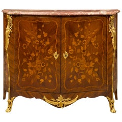 French 19th Century Louis XV Style Tulipwood, Kingwood and Ormolu Cabinet