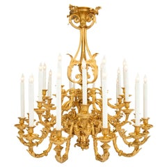 French 19th Century Louis XV Style Twenty Four Arm Ormolu Chandelier