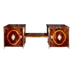 French 19th Century Louis XV Style Two Part Cabinet Joined by a Central Shelf