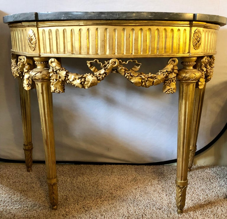 French 19th Century Louis XVI Console with Marble Top In Good Condition For Sale In Stamford, CT