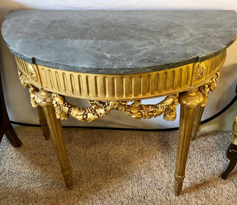 French 19th Century Louis XVI Console with Marble Top For Sale 3