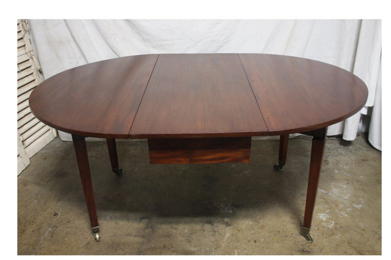 French 19th Century Louis XVI Drop-Leaf Table For Sale 7