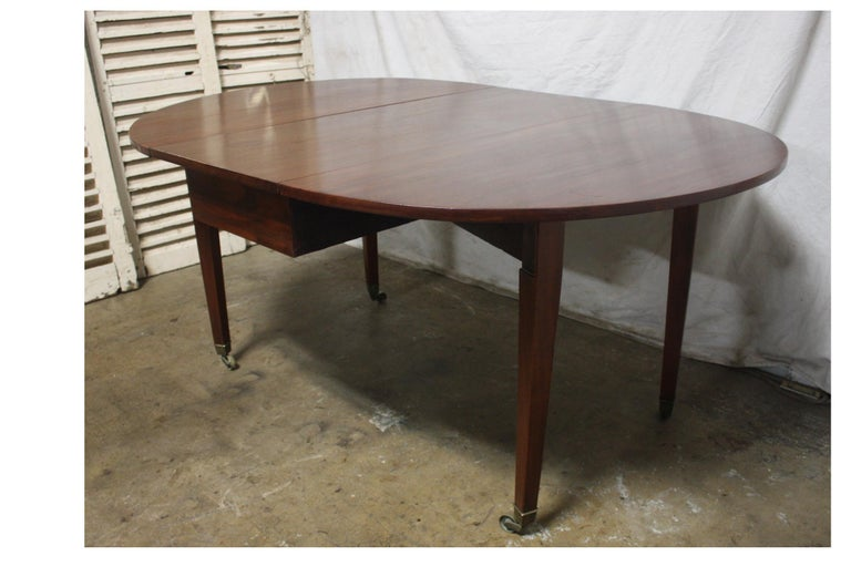 French 19th Century Louis XVI Drop-Leaf Table For Sale 11
