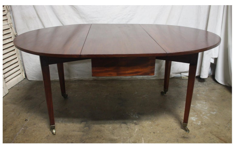 French 19th Century Louis XVI Drop-Leaf Table For Sale 5
