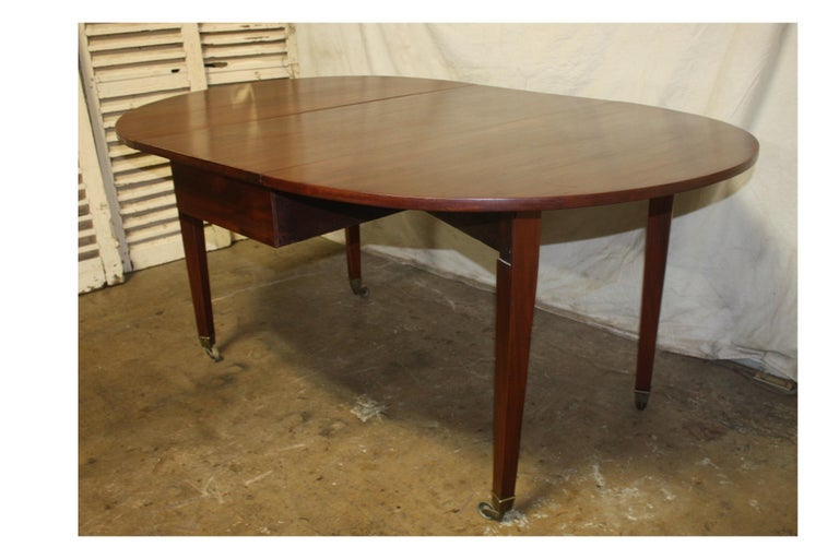 French 19th Century Louis XVI Drop-Leaf Table For Sale 6