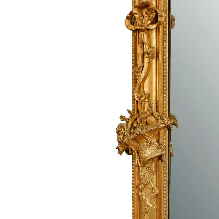 French 19th Century Louis XVI Giltwood Mirror For Sale 1
