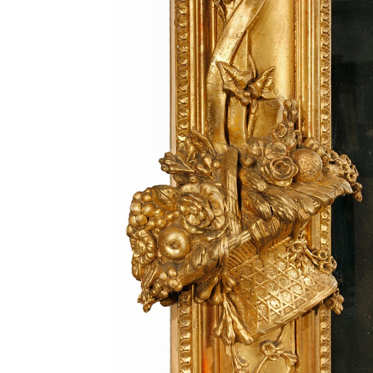French 19th Century Louis XVI Giltwood Mirror For Sale 2