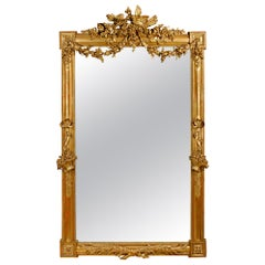 French 19th Century Louis XVI Giltwood Mirror
