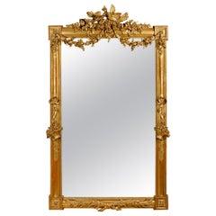 French 19th Century Louis XVI Giltwood Mirror