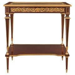 French 19th Century Louis XVI St. Belle Époque Period Display Table