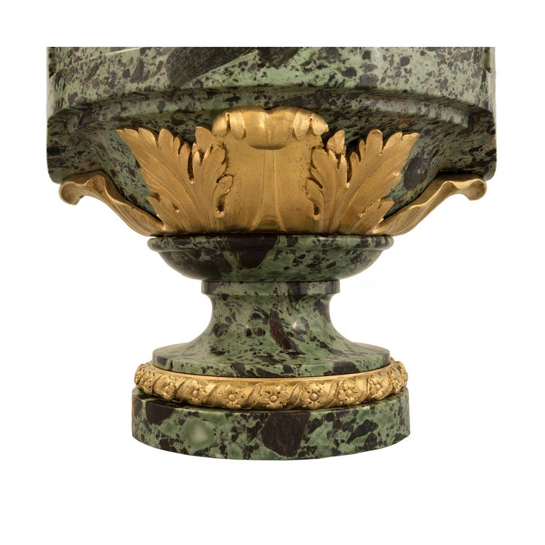 French 19th Century Louis XVI St. Belle Époque Period Marble and Ormolu Lamps For Sale 4