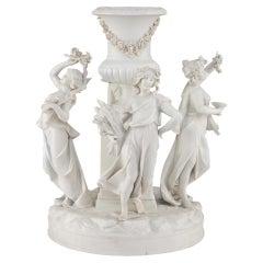 French 19th Century Louis XVI St. Biscuit De Sèvres Porcelain Centerpiece