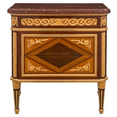 French 19th Century Louis XVI St. Commode, Attributed To Henry Dasson